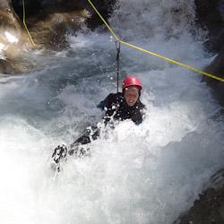Canyoning extrême vers Gap et Briançon dans le torrent de Chichin