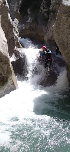 Canyoning demi-journée dans la clue de Saint-Auban proche de Castellane et des Gorges du Verdon