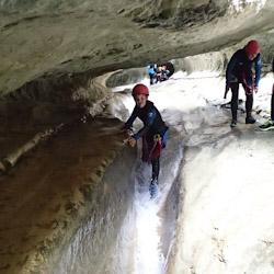 Canyoning initiation dans le Haut Jabron proche de Grasse et Castellane