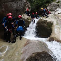 Canyoning dans la clue de Saint-Auban proche des Gorges du Verdon