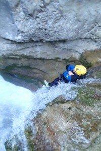Canyoning à côté de Nice et toboggan dans les gorges du Loup
