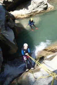 Canyoning près de Nice et descente en rappel dans le Gours du Ray