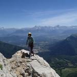 Fin de L4 et vue sur les Alpes