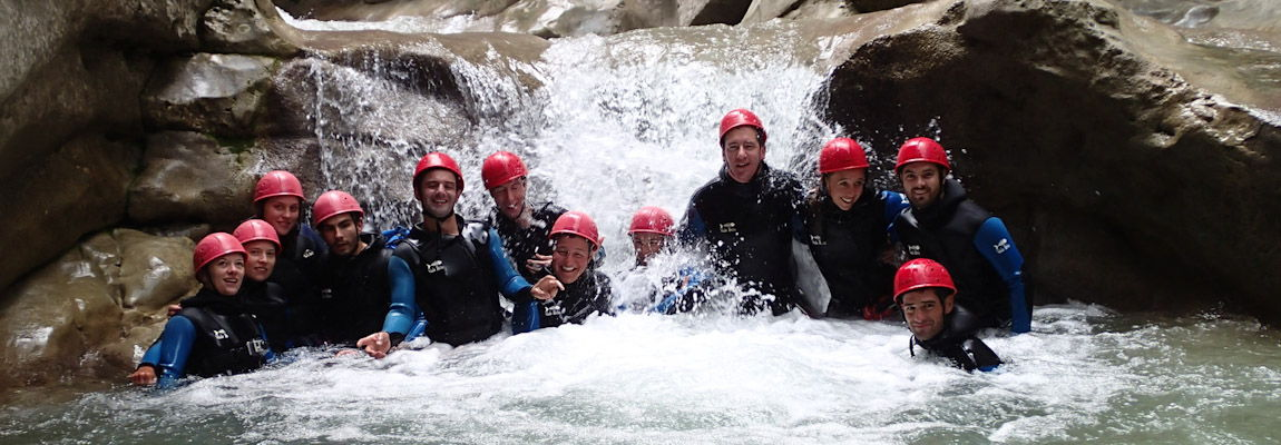 Canyoning initiation : Une pause s'impose !