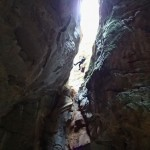 Rappel en canyoning dans le Val d'Angouire près de Marseille à l'entrée des Gorges du Verdon