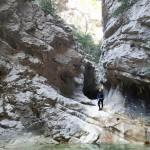 Paysage en canyoning dans le Val d'Angouire près de Marseille à l'entrée des Gorges du Verdon