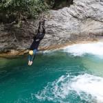 Plongeon en canyoning dans le Rio Barbaira près de Nice et Monaco