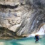 Marche en canyoning dans le Rio Barbaira près de Nice et Monaco