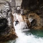 Toboggan en canyoning dans le Rio Barbaira près de Nice et Monaco