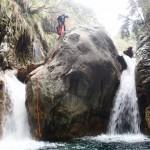 Rappel en canyoning dans le Rio Barbaira près de Nice et Monaco