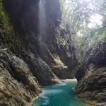 Paysage en canyoning dans le Rio Barbaira près de Nice et Monaco