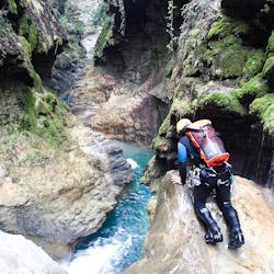 Canyoning près de Nice dans le Rio Barbaira