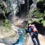 Canyon en canyoning dans le Rio Barbaira près de Nice et Monaco