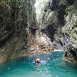 Nage en canyoning dans le Rio Barbaira près de Nice et Monaco