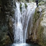 Cascade du vallon de la Carleva en canyoning extrême près de Nice