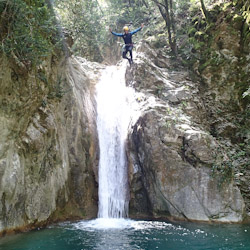 Canyoning extrême vers Nice dans le vallon de la Carleva