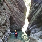 Etroiture du vallon de la Carleva en canyoning extrême près de Nice