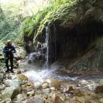 Tuf du vallon de la Carleva en canyoning extrême près de Nice