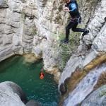 Saut en canyoning dans le vallon de Peïra près de Cannes et Nice