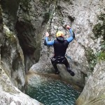 Saut en canyoning près de Nice et Antibes dans la vallée de la Vésubie et le Vallon de l'Imberguet