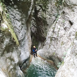 Canyoning dans l'Infernet proche de Lyon en Chartreuse