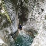 Paysage en canyoning près de Nice et Antibes dans la vallée de la Vésubie et le Vallon de l'Imberguet