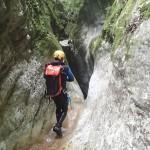 Marche en canyoning près de Nice et Antibes dans la vallée de la Vésubie et le Vallon de l'Imberguet