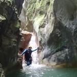 Etroiture en canyoning près de Nice et Antibes dans la vallée de la Vésubie et le Vallon de l'Imberguet