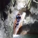 Toboggan en canyoning près de Nice et Antibes dans la vallée de la Vésubie et le Vallon de l'Imberguet