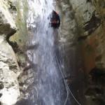 Rappel en canyoning près de Nice et Antibes dans la vallée de la Vésubie et le Vallon de l'Imberguet
