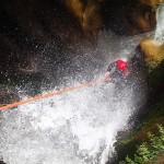 Rappel arrosé en canyoning dans le Gros Riou près de Nice et les Gorges du Verdon