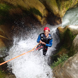 Canyoning vers Nice dans le Gros Riou