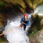 Sourire en canyoning dans le Gros Riou près de Nice et les Gorges du Verdon