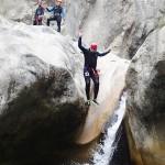 Saut en canyoning dans le Gros Riou près de Nice et les Gorges du Verdon