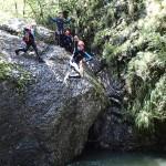 Saut canyoning dans la Vésubie vers Nice et Antibes dans le Riou de la Bollène