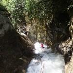 Toboggan canyoning dans la Vésubie vers Nice et Antibes dans le Riou de la Bollène