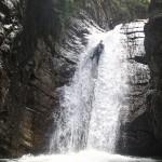 Rappel canyoning dans la Vésubie vers Nice et Antibes dans le Riou de la Bollène