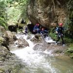 Marche canyoning dans la Vésubie vers Nice et Antibes dans le Riou de la Bollène