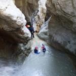 Vasque en canyoning dans le Gros Riou près de Nice et les Gorges du Verdon