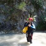 Déguisement commando en canyoning dans le Gros Riou près de Nice et les Gorges du Verdon
