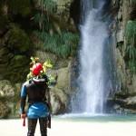 Contemplation en canyoning dans le Gros Riou près de Nice et les Gorges du Verdon