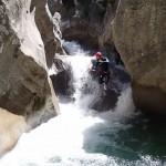 Saut en canyoning près de Castellane et des Gorges du Verdon dans la clue de Saint-Auban