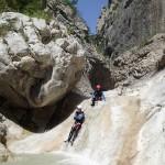 Toboggan en canyoning dans la clue du Riolan près de Nice et des Gorges du Verdon