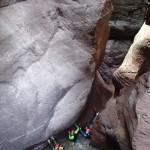Etroiture finale de la Clue d'Amen en canyoning extrême vers Nice