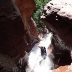 Canyoning extrême et descente en rappel des cascades finales dans la Clue d'Amen vers Nice