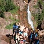 Canyoning extrême après les cascades finales de la Clue d'Amen vers Nice