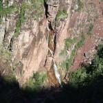Vue sur les cascades finales de la Clue d'Amen à descendre en canyoning extrême vers Nice