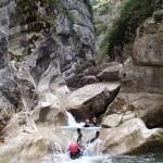 Toboggan en canyoning près de Castellane et des Gorges du Verdon dans la clue de Saint-Auban