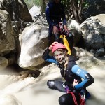 Argile en canyoning dans la clue du Riolan près de Nice et des Gorges du Verdon