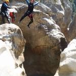 Saut en canyoning dans la clue du Riolan près de Nice et des Gorges du Verdon